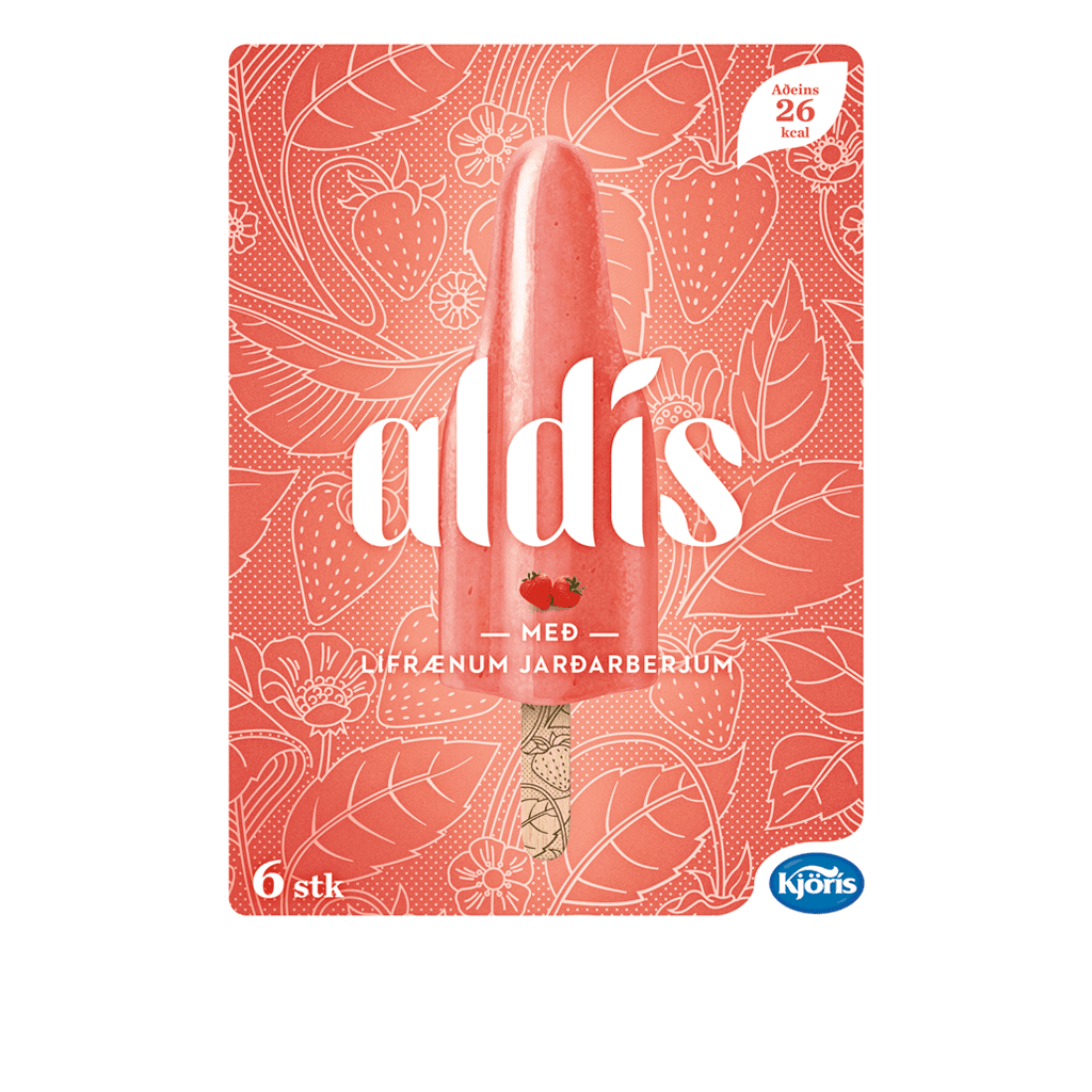 "Aldís Jarðarberja<br><span class=""bss-product-name"">Vegan</span>"