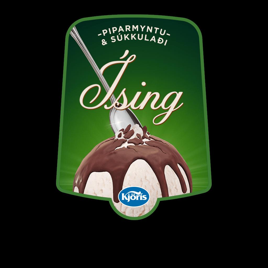 Íssing – piparmyntu & súkkulaði